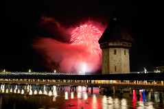 new year magic . lucerne 2013 (Toni_V) Tags: longexposure night reflections schweiz switzerland nikon europe suisse tripod luzern firework newyear svizzera lucerne neujahr gitzo wasserturm feuerwerk chapelbridge kapellbrcke reuss d300 2013 flickraward rathaussteg gt1540 toniv 130101 1685mm dsc8998 mygearandme mygearandmepremium