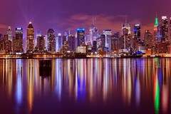 New York City on January 3, 2013 (mudpig) Tags: city nyc newyorkcity longexposure ny newyork color colour reflection skyline night reflections river geotagged star newjersey still trail timessquare esb bankofamerica intrepid hudsonriver empirestatebuilding empirestate gothamist edgewater hdr hoboken newyorktimes barclay weehawken allianz startrail unionhill mudpig stevekelley stevenkelley