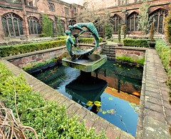 Chester Cathedral Water of Life (NicsPics13) Tags: sculpture stephen chester chestercathedral cloistergarden broadbent wateroflifefountain