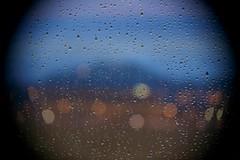 Arty raindrops (Getting Better Shots) Tags: blue window rain weather arty pane