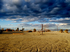 Amazed by Salton Sea Beach (TheJudge310) Tags: california usa storm beach clouds landscape unitedstates thermal 2012 saltonseabeach olympustg810