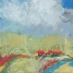 terra verde_1jw011513_750pix (Jan Weiss) Tags: sky water clouds river landscape stream earth land grasses wildflowers