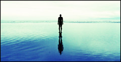never give up in the face of adversity (david.hayes77) Tags: sea reflection beach silhouette gormley crosby merseyside contrajour blundellsands