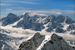 North face of Mont Blanc and the massif of Mont Blanc at winter time . No. 511. (Izakigur) Tags: friends sky france mountains alps topf25 fog clouds switzerland ferret nikon europa europe suisse suiza swiss beta suíça svizzera 500faves wallis montblanc lepetitprince valais thelittleprince verbier montfort montebianco hallelujah topf500 summits ilpiccoloprincipe nikond200 100faves 200faves سويسرا 300faves 400faves 600faves 700faves 800faves cameraroll cantonduvalais emji