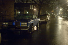 untitled (learning_machine) Tags: street longexposure urban chicago rain fog night nightshot desolate nightwork