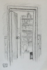 Study door (sarabeee) Tags: door home pencil sketch drawing study quicksketch interia