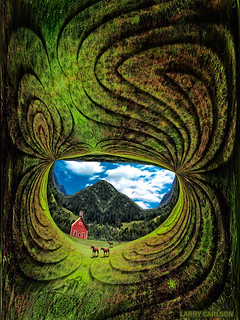 LARRY CARLSON, A Day in Vermont, c-print, 65x55in., 2013.