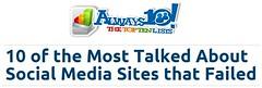 FAILED (Jae Rustia) Tags: myspace delicious orkut xanga diaspora friendster digg socialmedia eons yahoobuzz socialmediasite itunesping