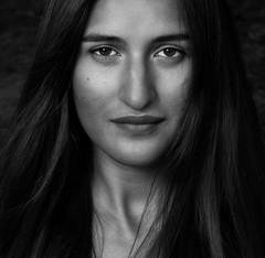 Model: Aliona Vorontsova (www.Michie.ru) Tags: portrait blackandwhite woman girl beautiful face model eyes breakdancer moldova monocrome aliona vorontsova