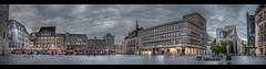 Marktplatz am Abend (p h o t o . w o r l d s) Tags: marktplatz sachsenanhalt deutschland hallesaale abendlicht eveninglight panorama hdr photomatix tonemapping fujixt10 photoworlds