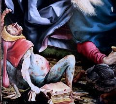 IMG_8154DBAA Matthias Grnewald.(Mathis Gothart Nithart)  1480 1528. Actif en Bade Wtemberg (Souabe)  et Alsace.  Le retable d'Issenheim. 2me ouverture  Les Tentations de St Antoine.   The Temptations of St. Anthony. Colmar Muse Unterlinden. (jean louis mazieres) Tags: france museum painting muse colmar museo peintures peintres matthiasgrnewald retabledissenheim museunterlinden mathisgothartnithart