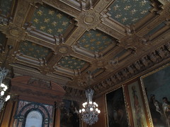 The Elms Dining Room (ty law) Tags: newportri cottages vanderbilt thebreakers cliffwalk salveregina marblehouse rosecliff theelms servanttour bathroom gildedage robberbaron captainofindustry edwardian american grand grandiose flowers atlanticocean rhodeisland copper