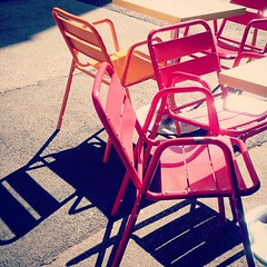 Early Morning (stefan_wolpert) Tags: streetphotography street streetscene art concept conceptual abstract abstractart summer sun sunnyday city coffeeshop colors colorphotography cellphonephotography cellphone samsungexperia samsung xperia
