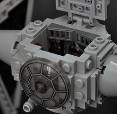 TIE fighter (3) (Inthert) Tags: lego ship empire pilot moc star wars solar panel twin ion engine tie fighter cockpit imperial