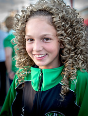 Irishfest (JohnKosterImages) Tags: irish young girl smile happy brown green eyes blond curls festival milwaukee water lakefront fall late summer august