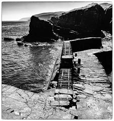 Latheron Harbour (Alan Cruickshank.) Tags: mono blackwhite fujixt1 fuji1024f4 fuji caithness sutherland