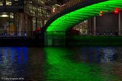 Green Bridge, Media City. 16th August 2016. (craigdouglassimpson) Tags: nightscene bridges water manchestershipcanal mediacity colour salfordquays greatermanchester england