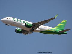 Citilink (Garuda Indonesia). (Jacques PANAS) Tags: citilink garuda indonesia airbus a320214wl pkgqp fwwbq msn7297