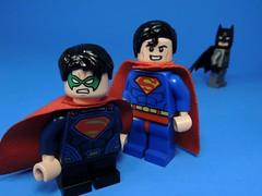 Son of Steel (MrKjito) Tags: lego minifig super hero dc comics comic man batman damian wayne robin son steel cape father