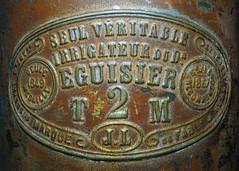 Irrigateur du Dr Éguisier (France, 2ème moitié du 19ème siècle) (Cletus Awreetus) Tags: médecine irrigateur lavement énéma enema antiquité métal cuivre plaque