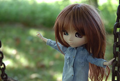 Being balanced (Erla Morgan) Tags: doll pullip pullipsouseiseki souseiseki souki erlamorgan paris france holidays balance swing obitsu wig chips cute clothes junplanning groove denim