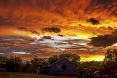 sunset barn (e dibb) Tags: hdr farm sunset landscape red