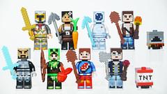 LEGO Minecraft Skin Pack 1 & 2 (BRICK 101) Tags: lego minecraft minifig