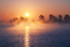 IMGP0538 (Mirek Pruchnicki) Tags: radymno zek fog foggy lake landscape mirror misty morning naturalbeauty reflection softlight summer sunrise