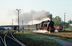 Loco Ok22 31  |  Wolsztyn  |  1991 (keithwilde152) Tags: ok22 wolsztyn pkp poland 1991 station tracks yards town passenger train steam locomotives outdoor autumn sun