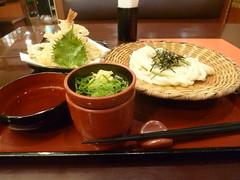 Favourite lunch (seikinsou) Tags: japan spring osaka kansai airport kix udon noodle tempura sauce dip ginger springonion bamboo dish lacquer chopstick