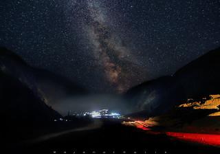 Naran City at night with Milkyway...!!