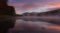 Morning on the Androscoggin River (Adam Woodworth) Tags: andscrogginriver autumn fall fog foliage gorham mist newengland newhampshire river sunrise whitemountains