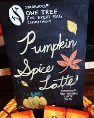 Pumpkin Spice Latte Sign (booboo_babies) Tags: pumpkin pumpkinspice sign blackboard starbucks psl coffee chalkboard