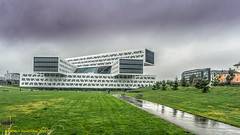 Fornebu, Norway: Government-owned Statsoil offices, The complex has five buildings aligned in a rectangle with a diagnol. (nabobswims) Tags: architecture fornebu hdr highdynamicrange lightroom no nabob nabobswims norges norway photomatix sonya6000 statsoil