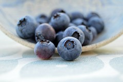 blueberries (Cherryhill Studio) Tags: blueberries homegrown garden photography nature ceramic