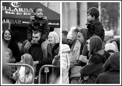 Piggybacks (The Old Brit) Tags: street collage mono candid crowd dads piggyback crowds fathers southport merseyside sefton piggybacks southportchristmaslightsswitchon