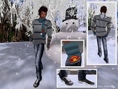 PASEO BAJO LA NIEVE (Satine Rabeni & Casasreais Allen) Tags: outfit mesh free gift marketplace bufanda guantes playeros pantaln sudadera novedad focusposes