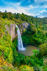 Bridal Falls (Top) (sactyr photography) Tags: newzealand green fall water forest waterfall waikato northisland lush raglan bridalfalls