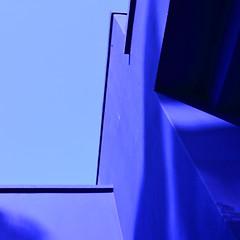 Blue abstract (Thomas Roland) Tags: city travel blue house holiday abstract detail by architecture garden square botanical colours jardin tourist have morocco maroc marrakech majorelle medina marrakesh colourful sq squared ville marokko cobalt bl botanisk turist cobolt detalje  farverig