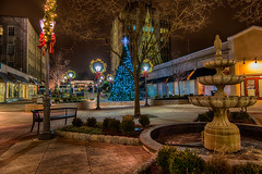 Suburban Square at night. (Garen M.) Tags: night shops ardmore suburbansquare