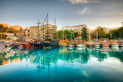 Antalya, Turkey (Nejdet Duzen) Tags: city trip travel holiday castle turkey boat day harbour yacht trkiye clear antalya kale sandal yat liman tatil turkei seyahat kaleii ehir yatliman mygearandme
