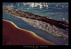 stepped on shore (<rs> snaps) Tags: sea beach water sand step shore stepping footprint notphotoshopped onshore reneschlegel