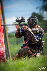 DSC_3093 (PRyAnKeE) Tags: blue boy red sky black guy love colors grass sport clouds photoshop happy photography nikon soft mask action bokeh outdoor extreme paintball d3100