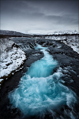 [ ... black, white & blue ] (D-P Photography) Tags: spring water river island canoneos5dmarkii waterfall mountain iceland lee nd wasserfall berge flss frhling wasser leefilters bigstopper trkis ndgrad brarfoss suurland torquise lee09ndgrad canoneos5dmarkiii eos