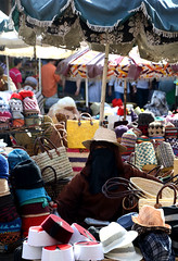 Women selling hats (SimonGriffiths) Tags: simon women hats stall morocco fez griffiths burka simongriffiths