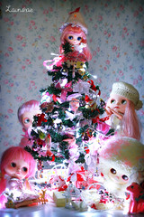 may your holidays be touched by magic! (launshae) Tags: christmas pink tree lights valentine fairy diana blythe francoise parfait tassels ananassa middie launshae