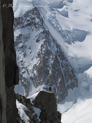 Easy shot from top of Aguille du Midi