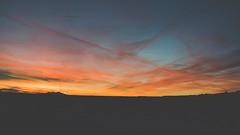 Land Of The Hopeful (ELMUNDOPORMISOJOS) Tags: winter sunset arizona sky mountains silhouette clouds landscape desert 169 chemtrails hopi hopiland emptyplaces polacca firstmesa