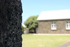St John's Anglican Church, Port Fairy (vonSchnitzenberg) Tags: travel blue light summer sky holiday green church stone worship stjohn greatoceanroad quarry anglican bluestone portfairy anglicanchurch stjohnschurch