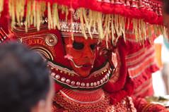 Theyyam ceremony in Thottady (Kannur) (Lucie Bienvenue) Tags: india worship kerala blessing ritual custom malabar theyyam kannur cannanore costamalabari bhagavathi northmalabar pulaya ambilad karalai thottady
